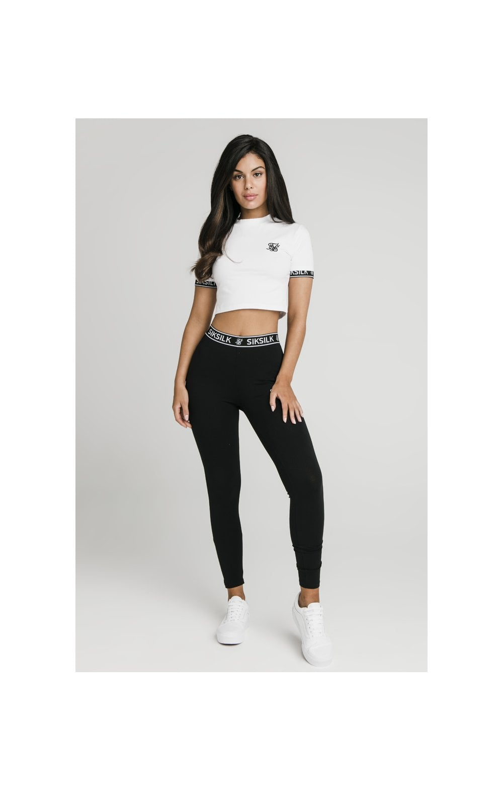 SikSilk Crop Tech Tee White (2)