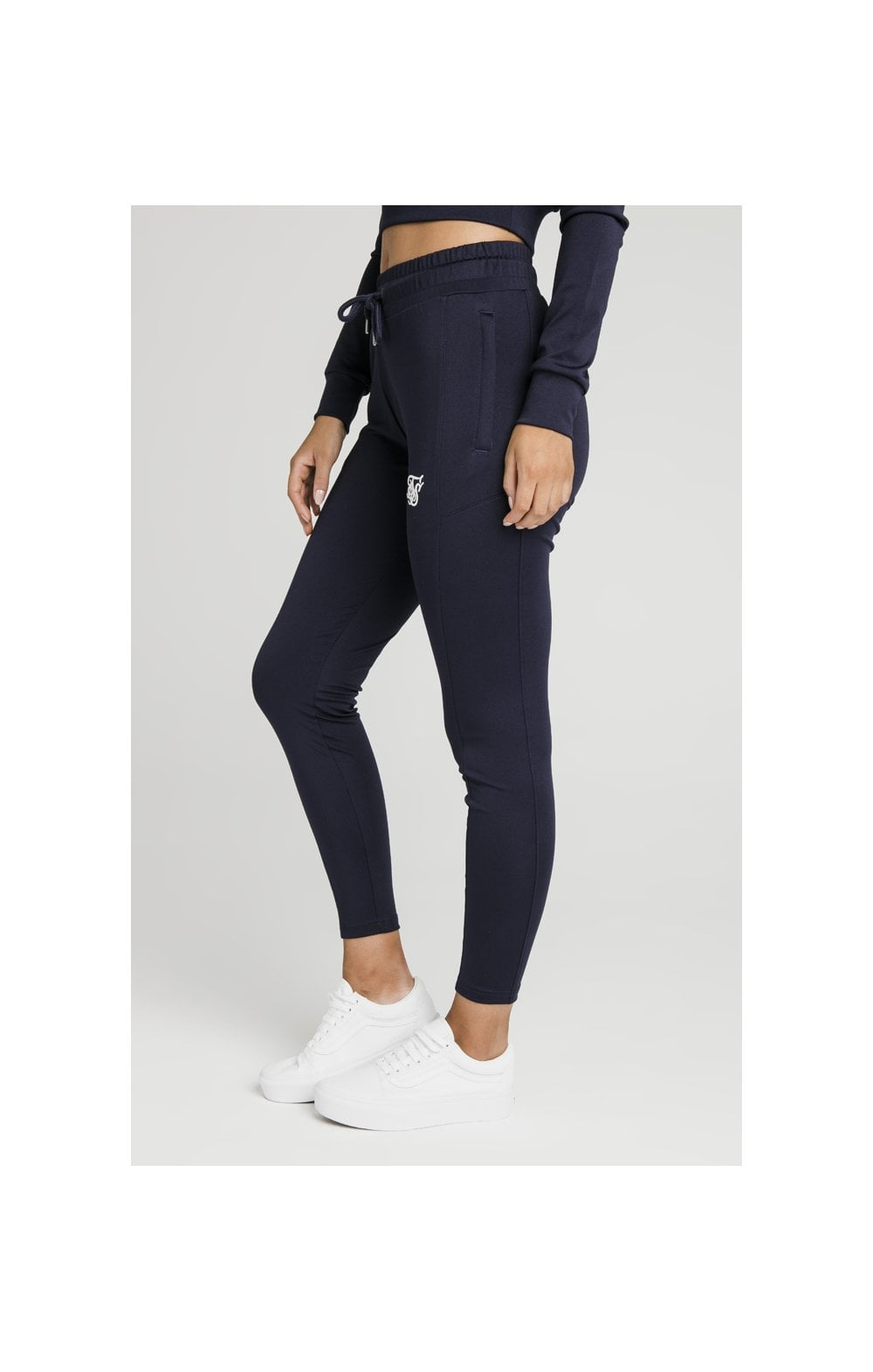 SikSilk Zonal Track Pants – Navy (1)