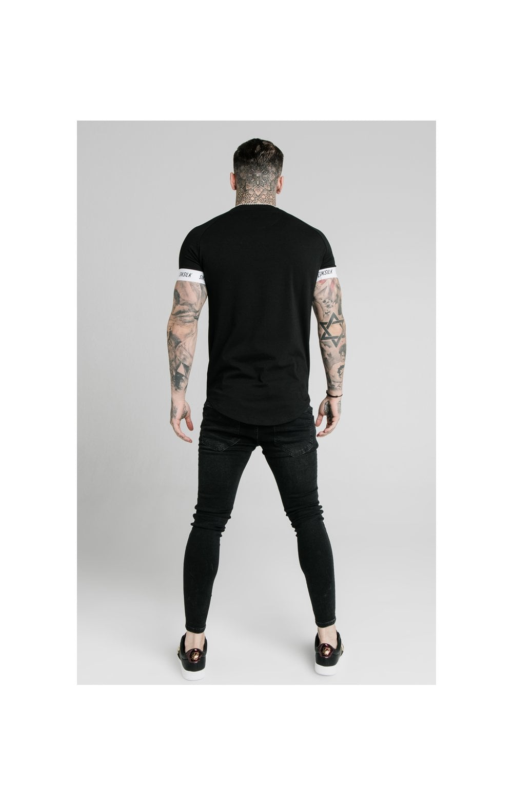 Load image into Gallery viewer, SikSilk S/S Raglan Tech Tee - Black (5)
