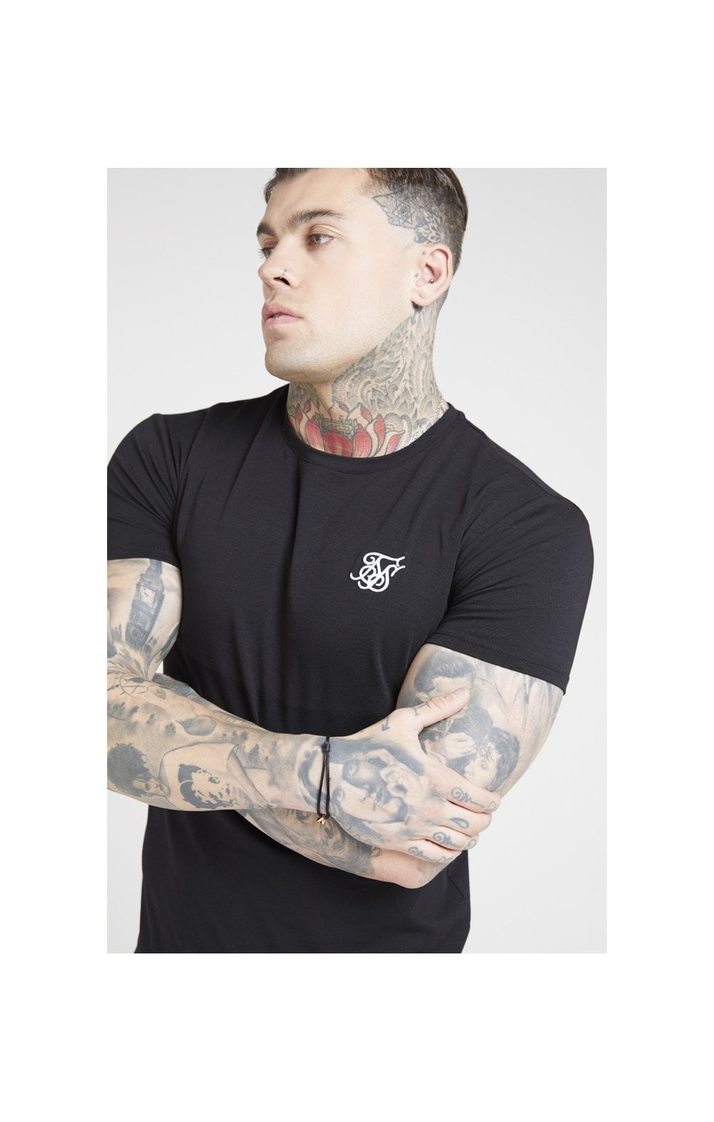 Load image into Gallery viewer, SikSilk S/S Core Gym Tee – Jet Black