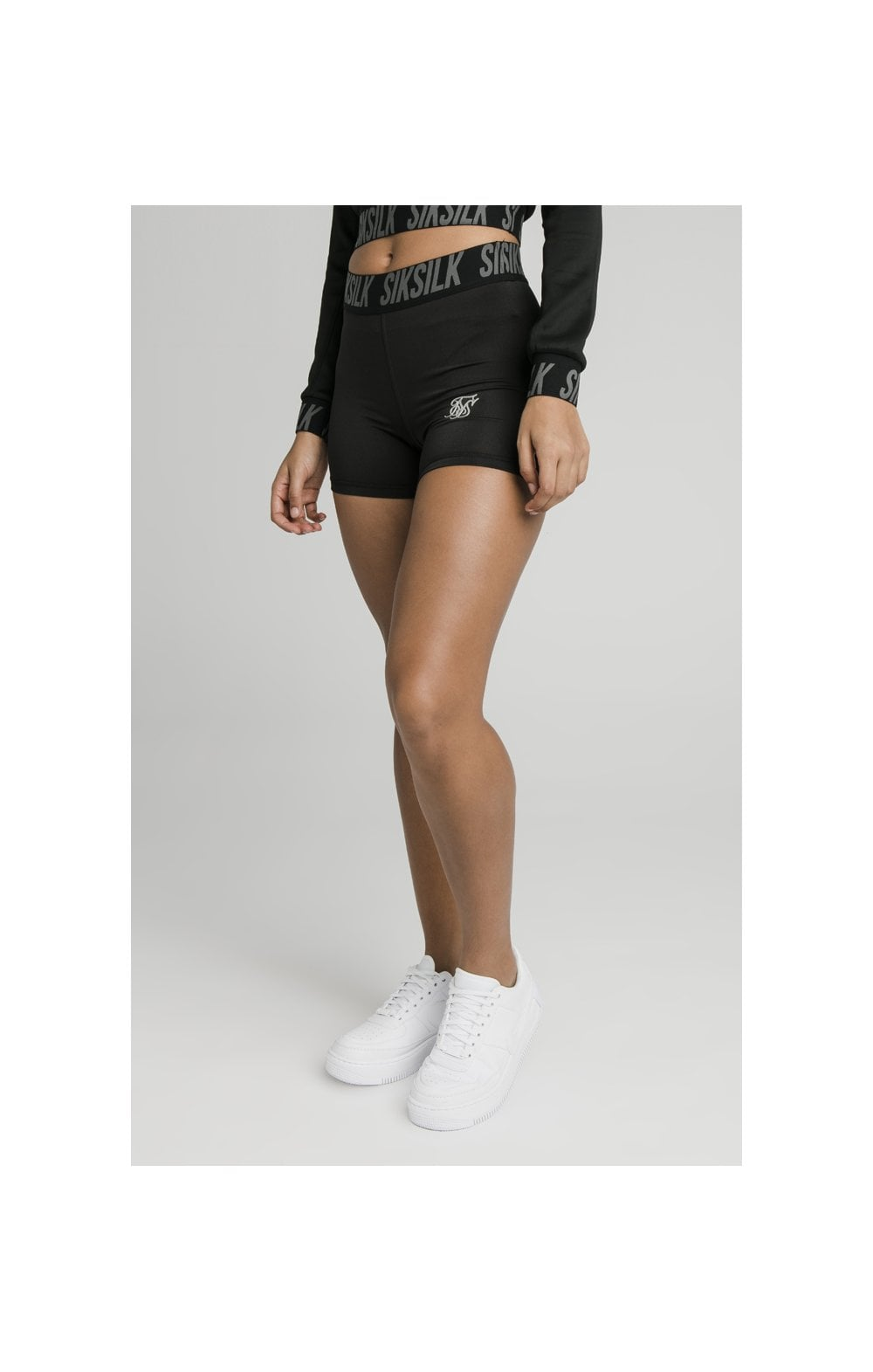Load image into Gallery viewer, SikSilk Tape Gym Shorts Black (2)