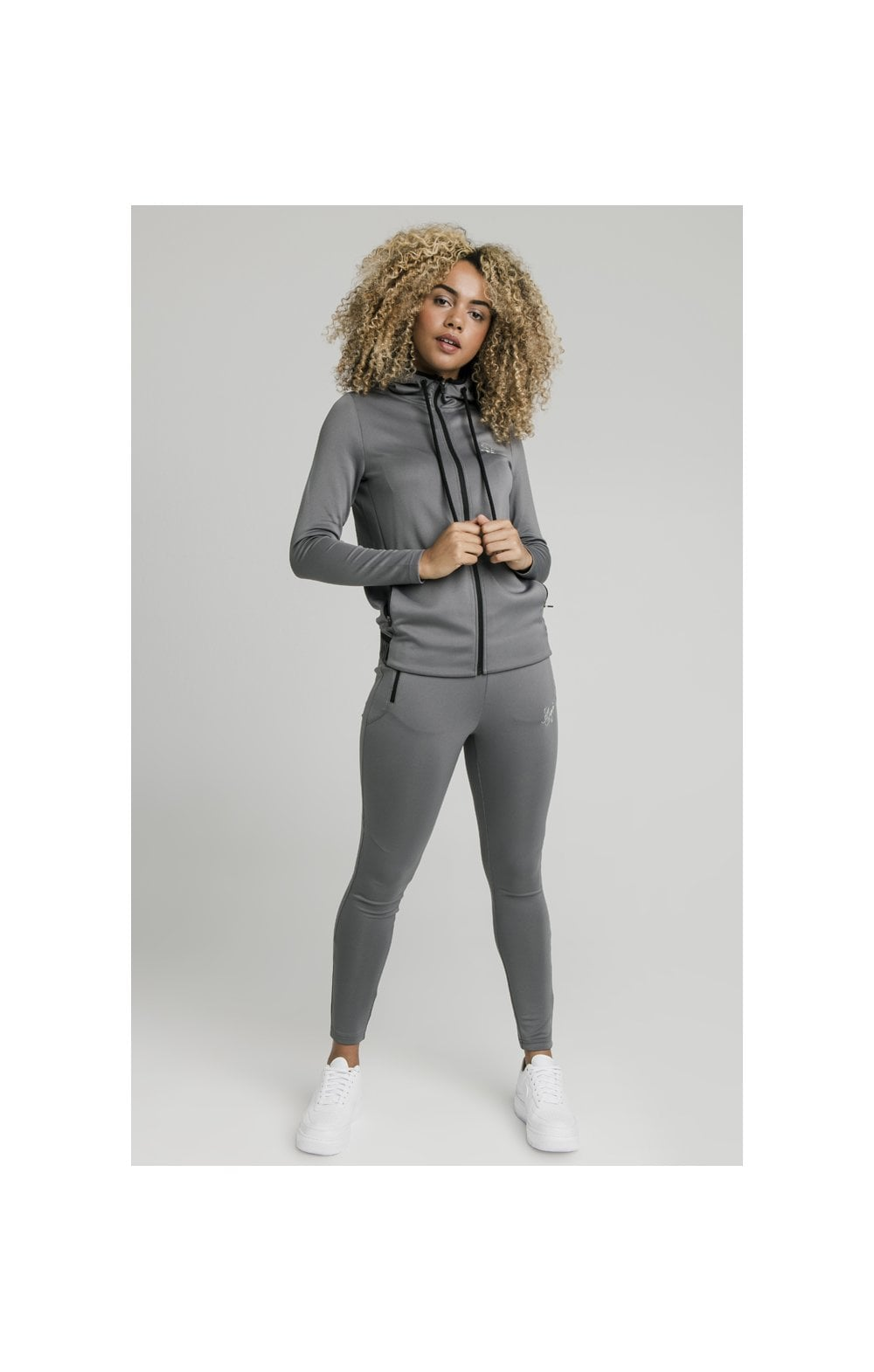 SikSilk Gym Track Jacket - Grey (1)