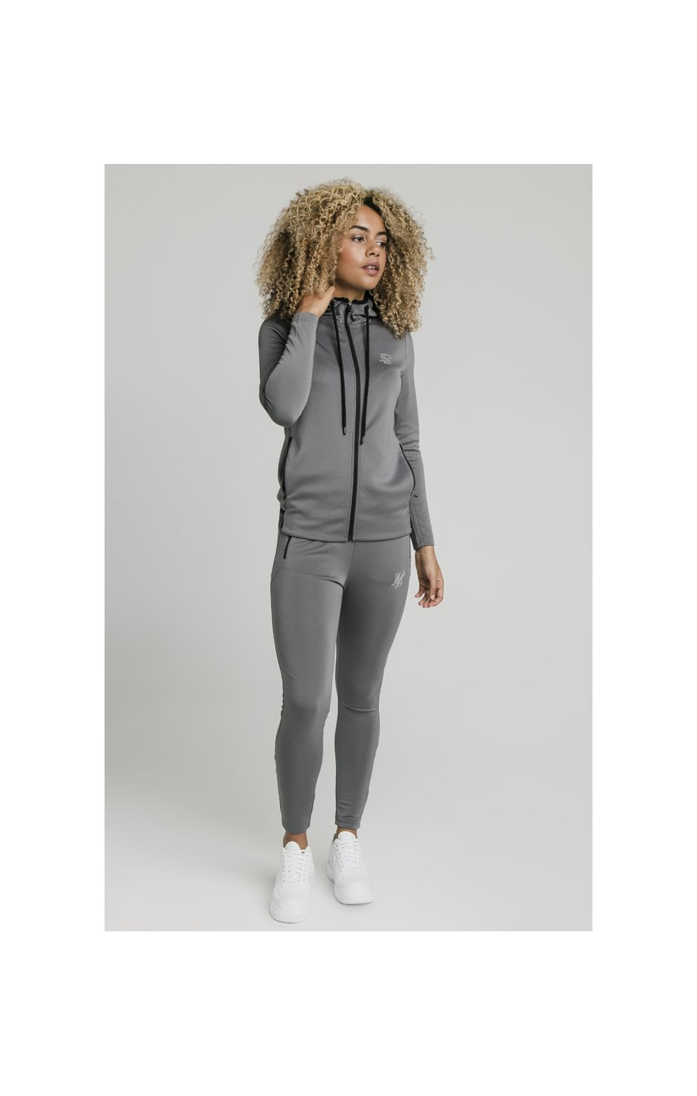 SikSilk Gym Track Jacket - Grey (2)