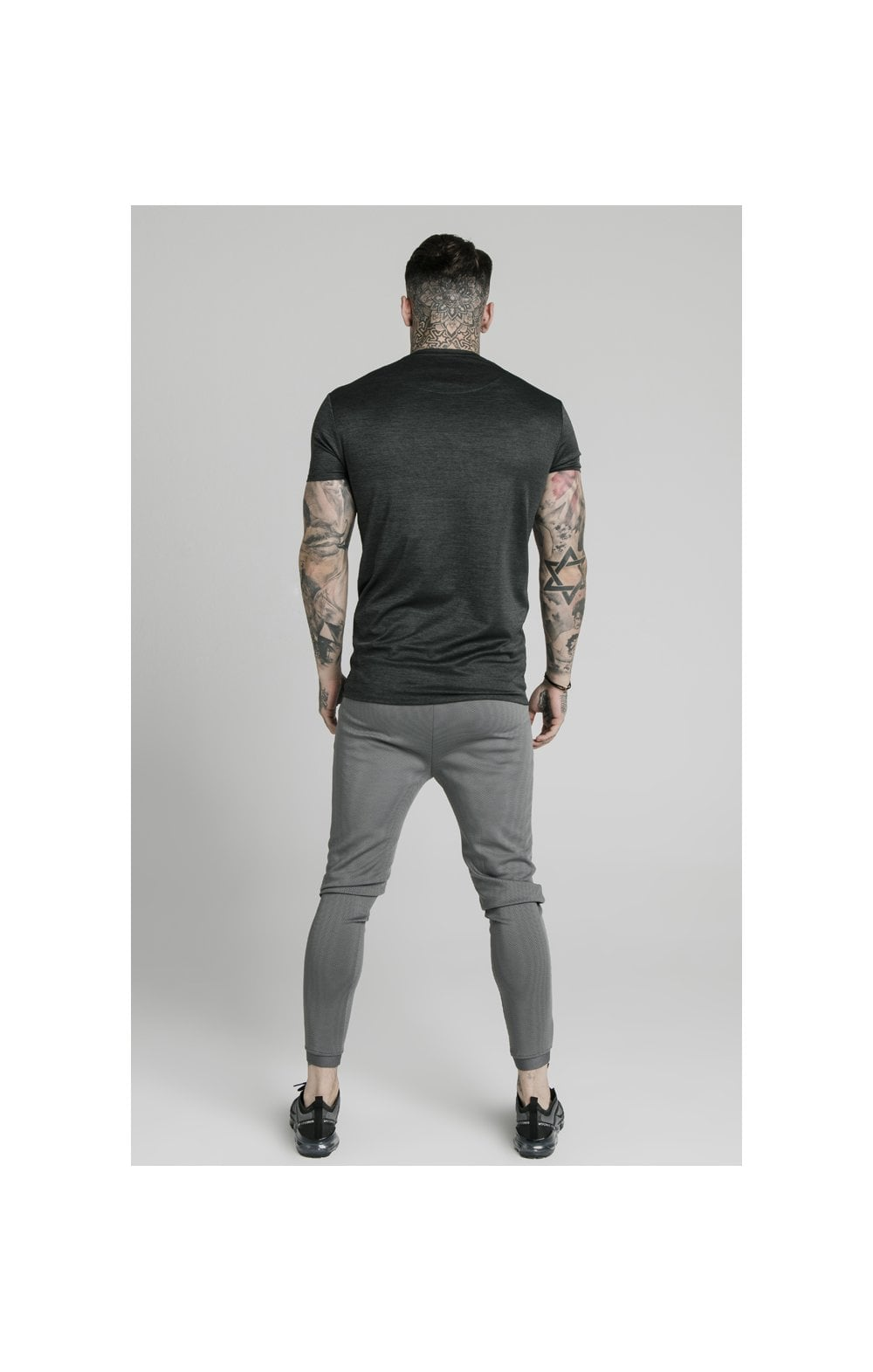 SikSilk Active Straight Hem Gym Tee - Charcoal Marl (5)