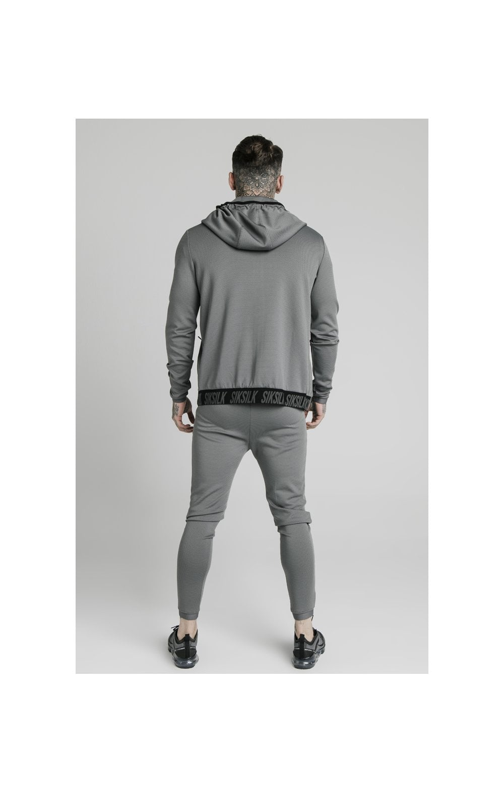 SikSilk Agility Active Zip Through Hoodie - Grey (4)