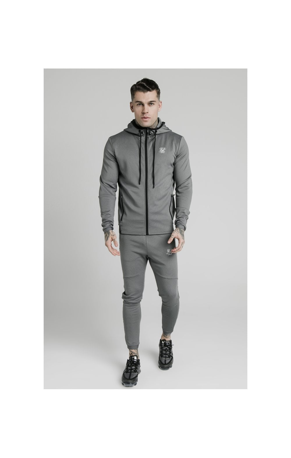 SikSilk Agility Active Zip Through Hoodie - Grey (5)