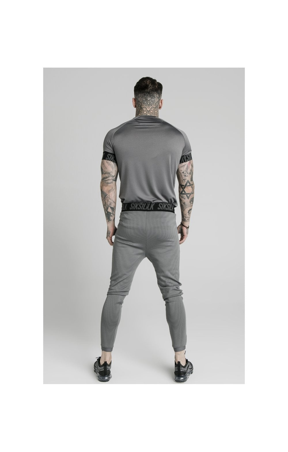 SikSilk S/S Active Tech Tee - Grey (4)