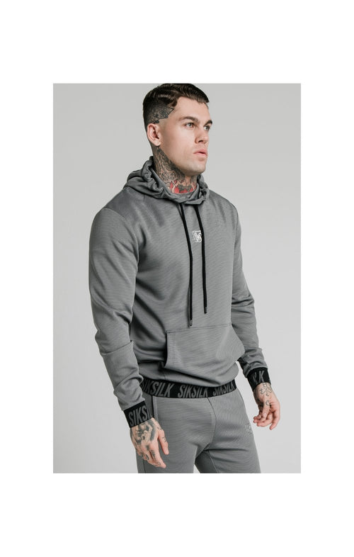 SikSilk Active Muscle Fit Overhead Hoodie - Grey