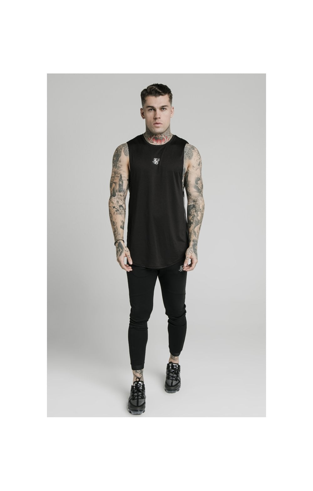 SikSilk Active Poly Sports Vest - Black (2)