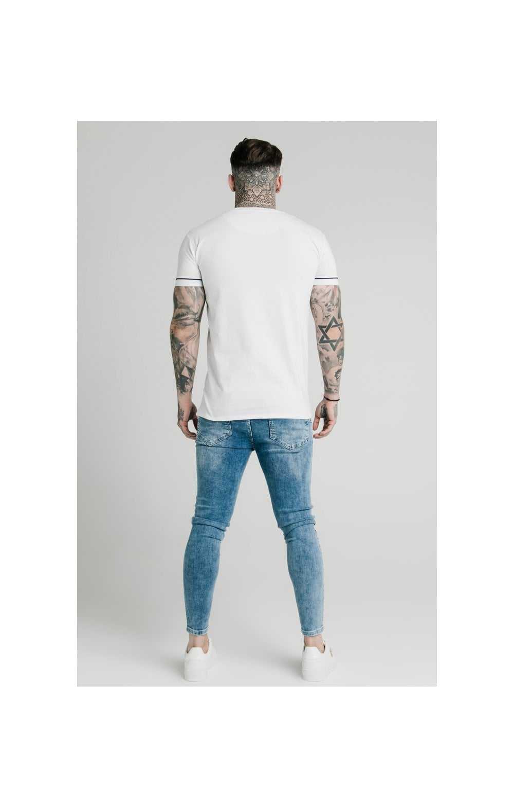Load image into Gallery viewer, SikSilk S/S High Collar Tee - White (5)