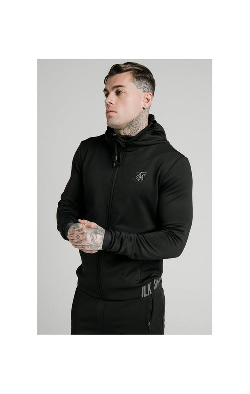 SikSilk Agility Active Zip Through Hoodie - Black