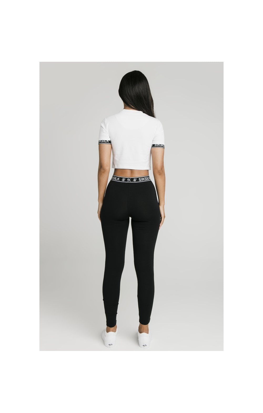 SikSilk Crop Tech Tee White (5)