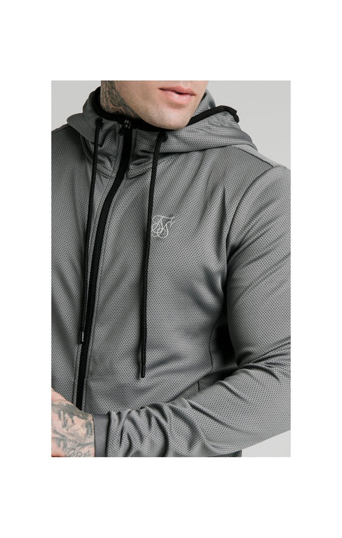 SikSilk Agility Active Zip Through Hoodie - Grey