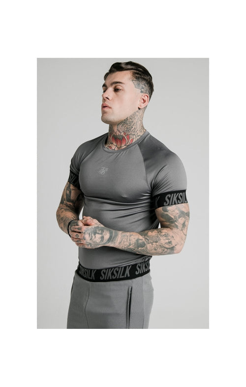 SikSilk S/S Active Tech Tee - Grey