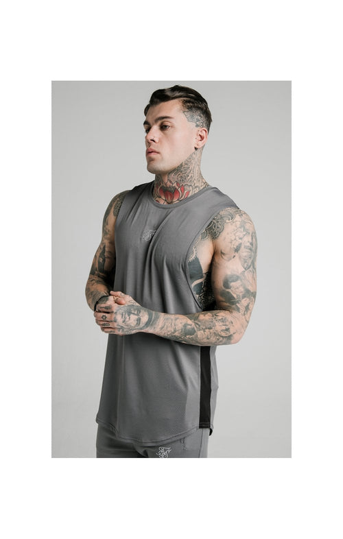SikSilk Active Poly Sports Vest - Grey