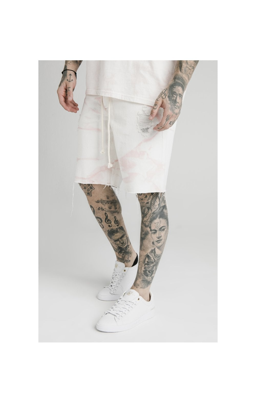 Load image into Gallery viewer, SikSilk Loose Fit Denim Shorts - Light Pink (2)