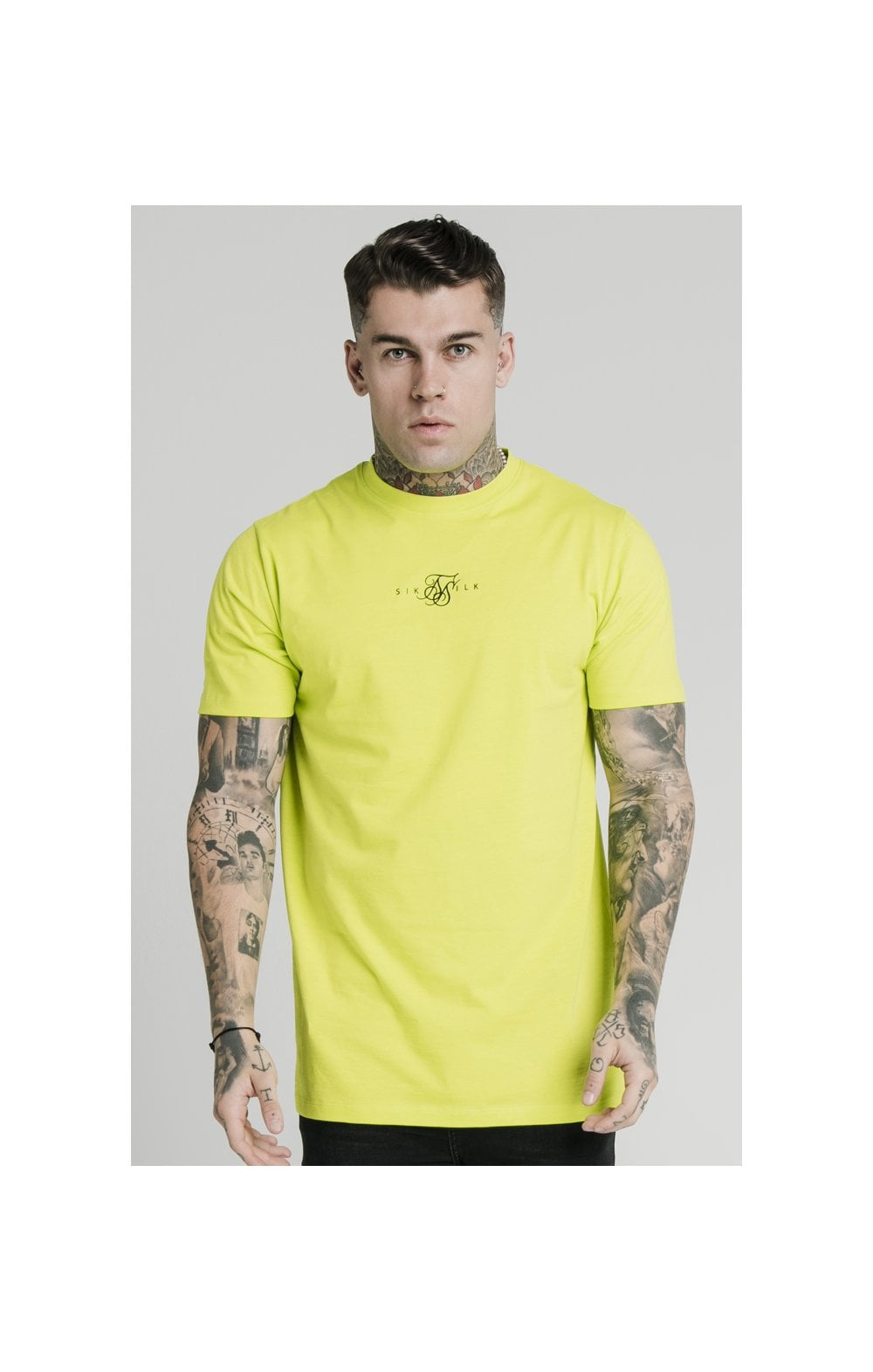 SikSilk S/S Square Hem Tee – Lime