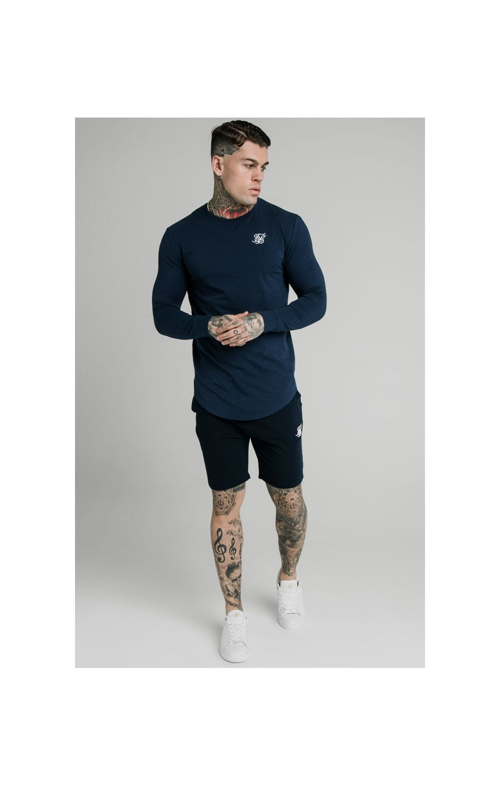 Load image into Gallery viewer, SikSilk Jersey Shorts - Navy (4)