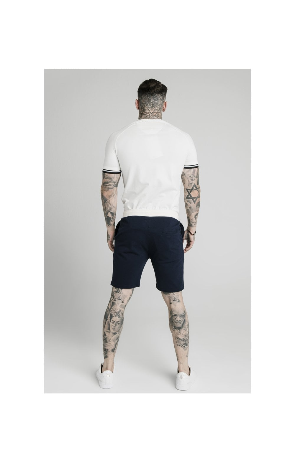 SikSilk Signature Piped Tech Tee - Off White (4)
