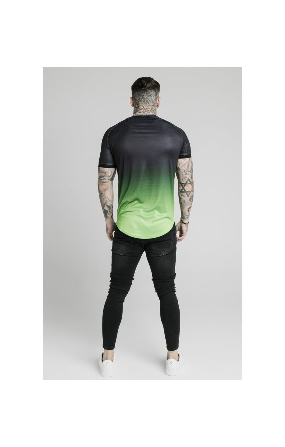 Load image into Gallery viewer, SikSilk S/S Fade Tech Tee - Black & Fluro (5)