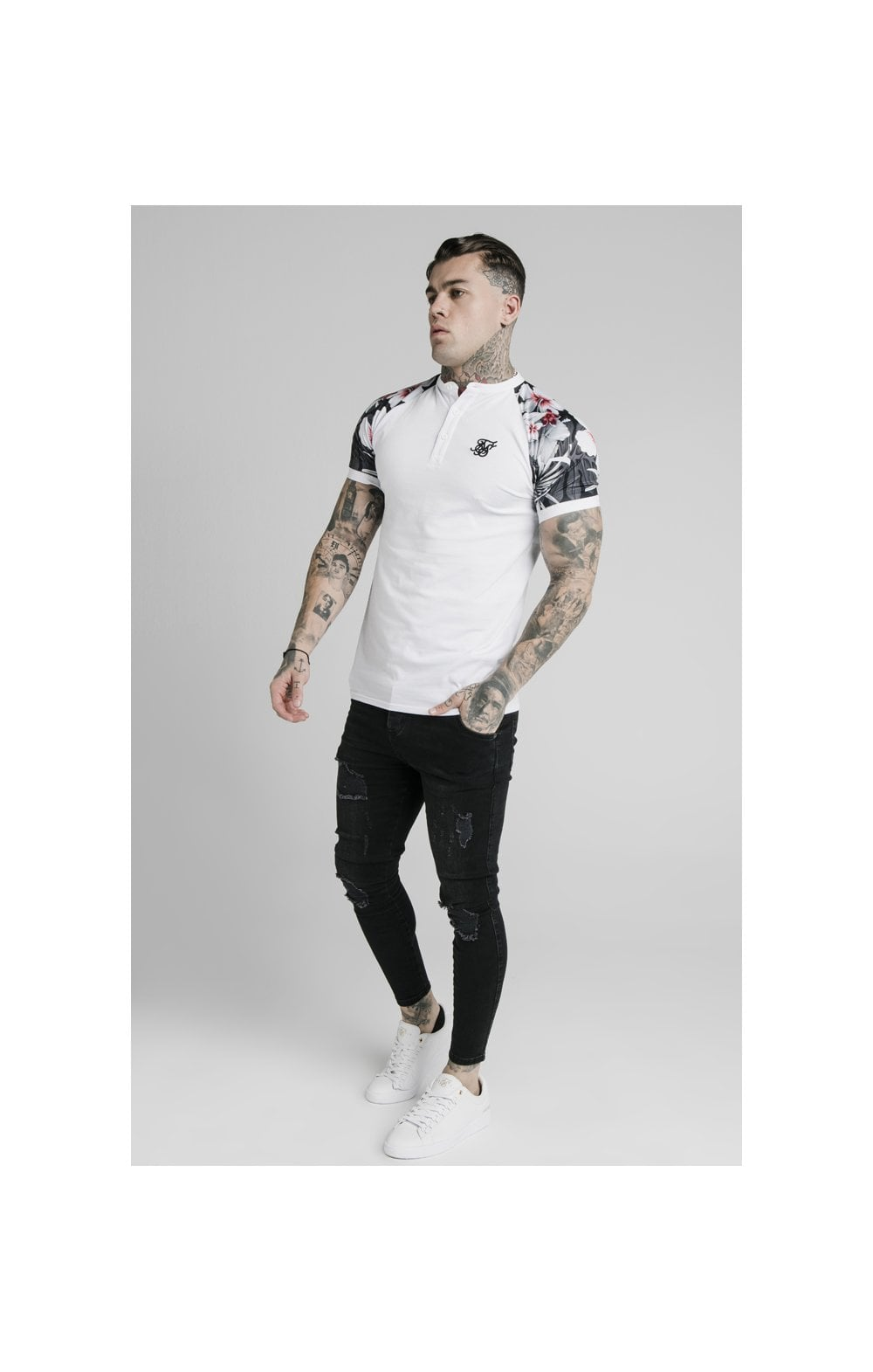 Load image into Gallery viewer, SikSilk S/S Tech Polo - White (3)