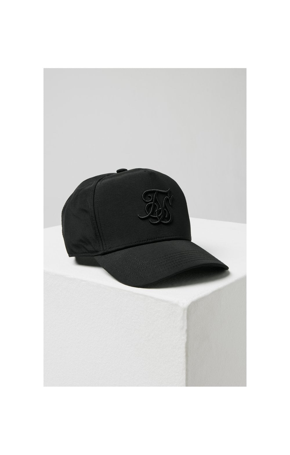 Load image into Gallery viewer, SikSilk Crushed Nylon Full Trucker - Black (4)