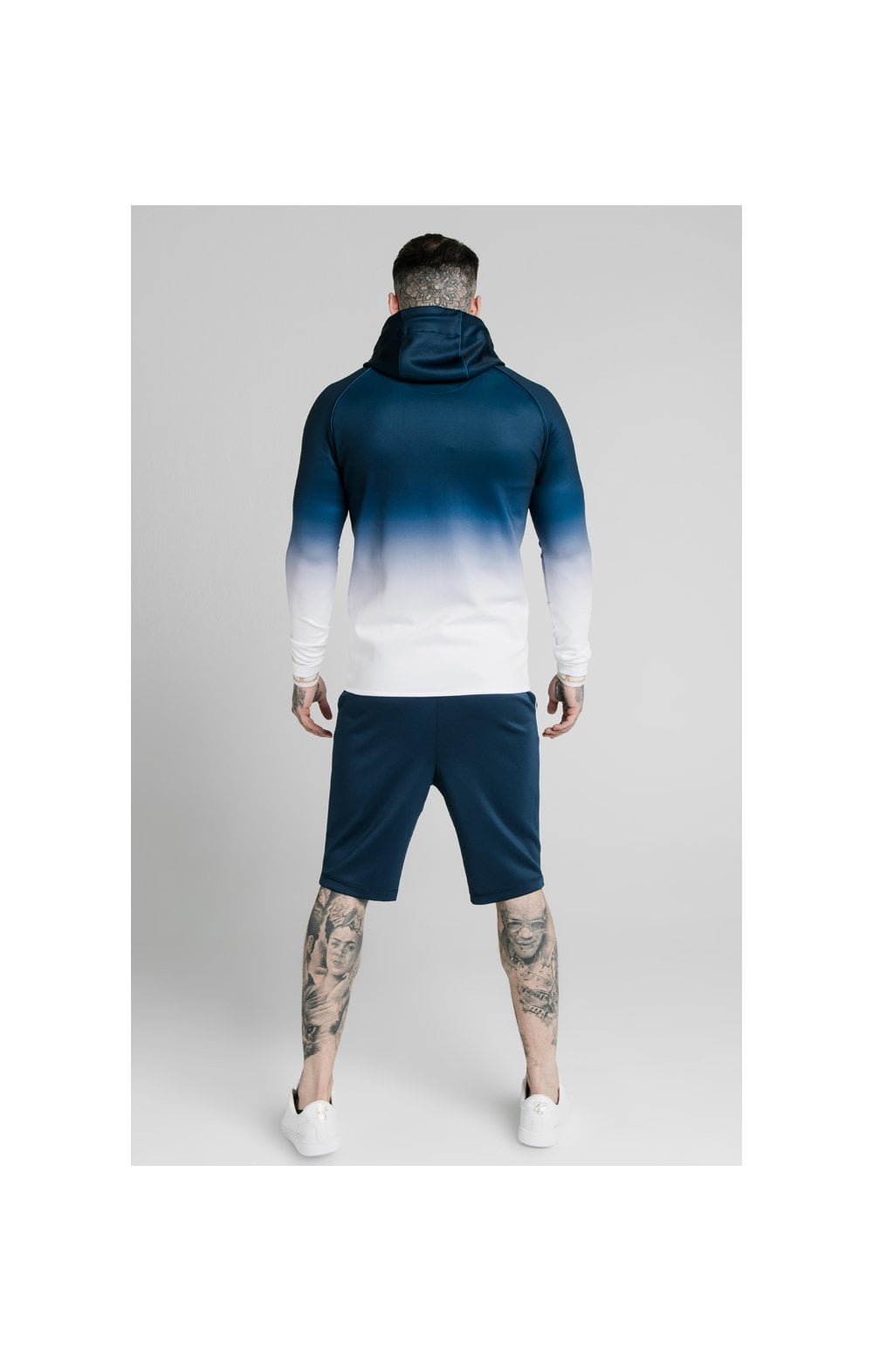Load image into Gallery viewer, SikSilk Scope Zip Through Hoodie - Navy & White (4)
