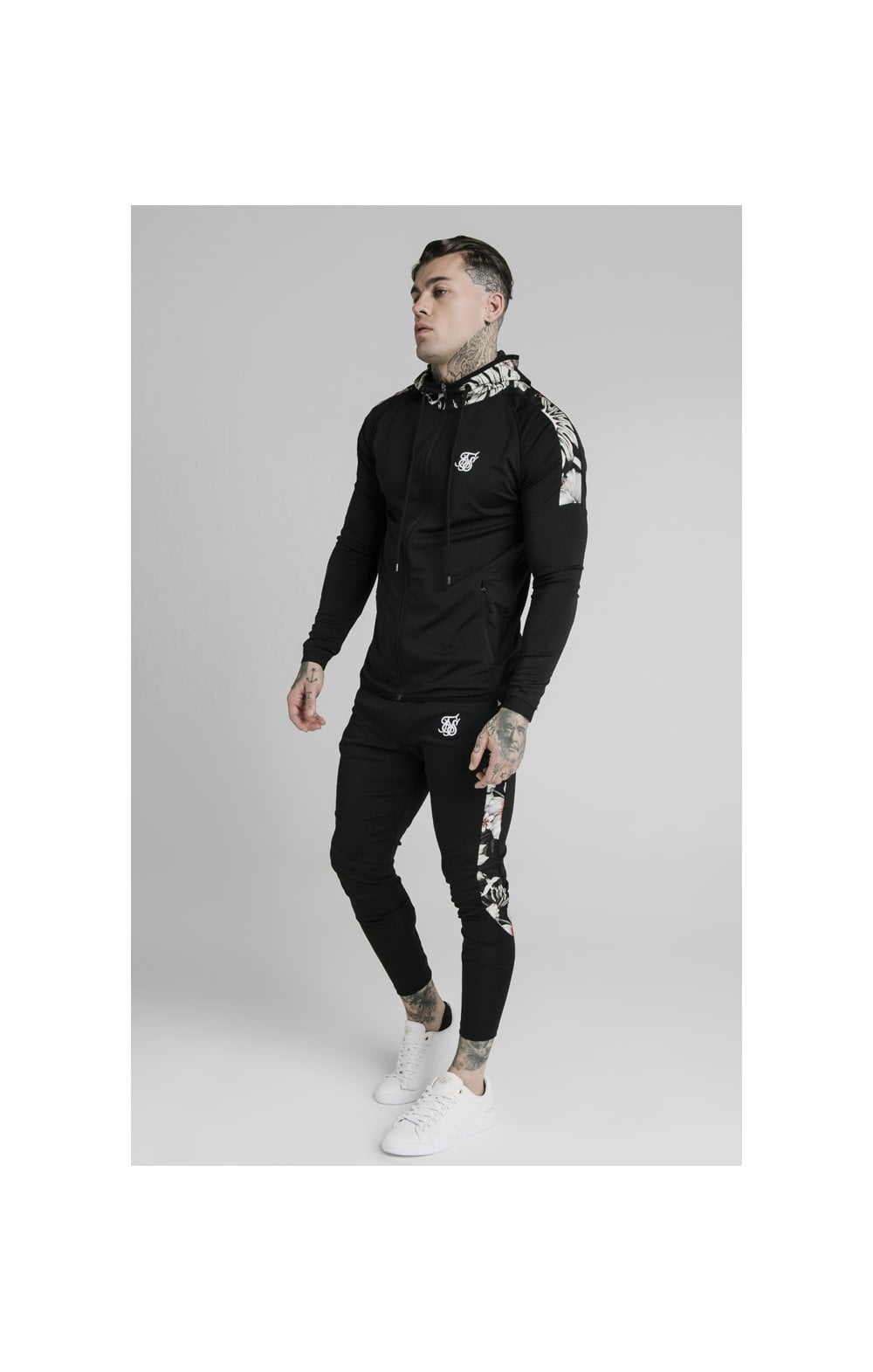 SikSilk Scope Zip Through Hoodie - Black (2)