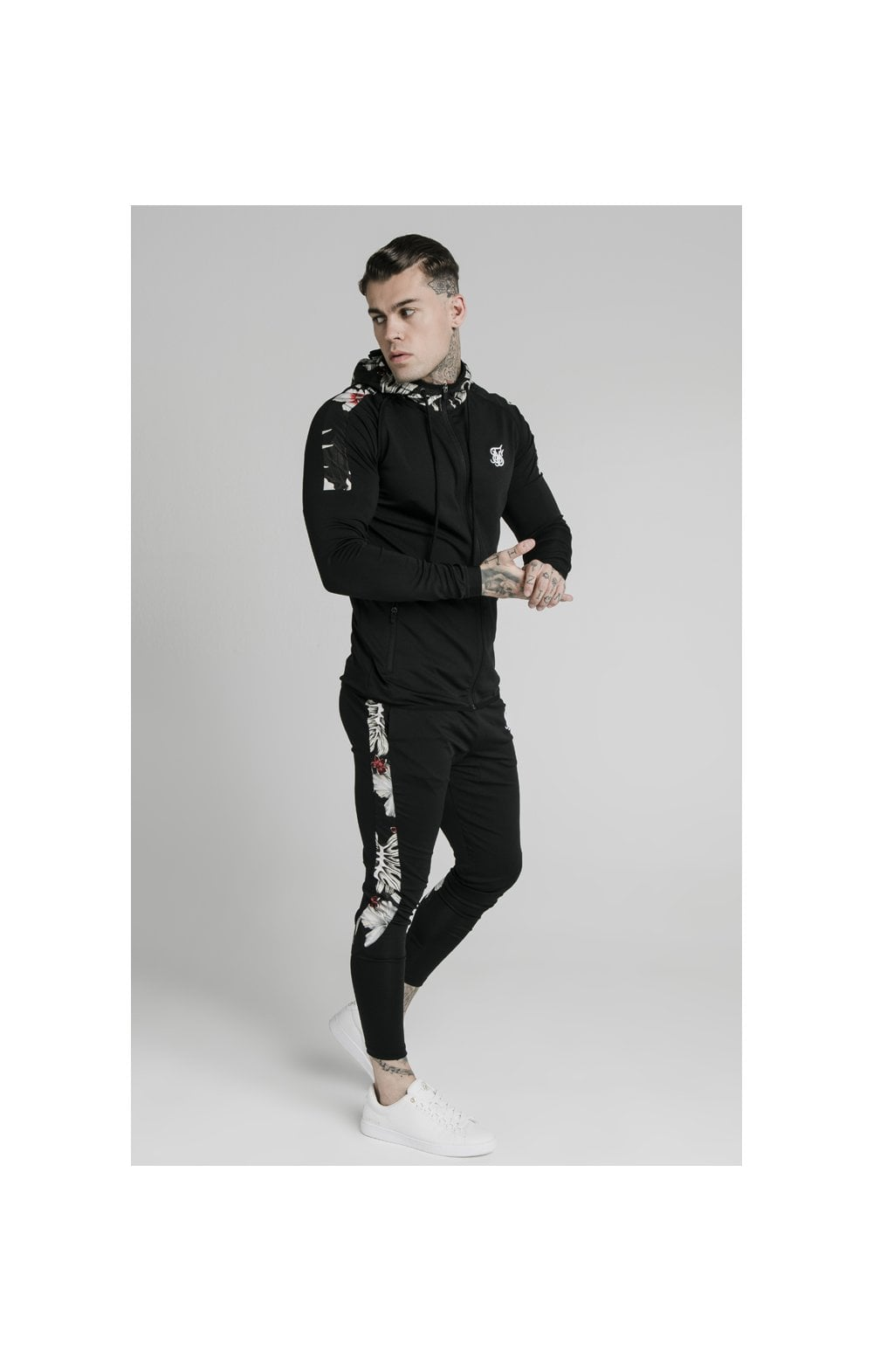 SikSilk Scope Zip Through Hoodie - Black (4)