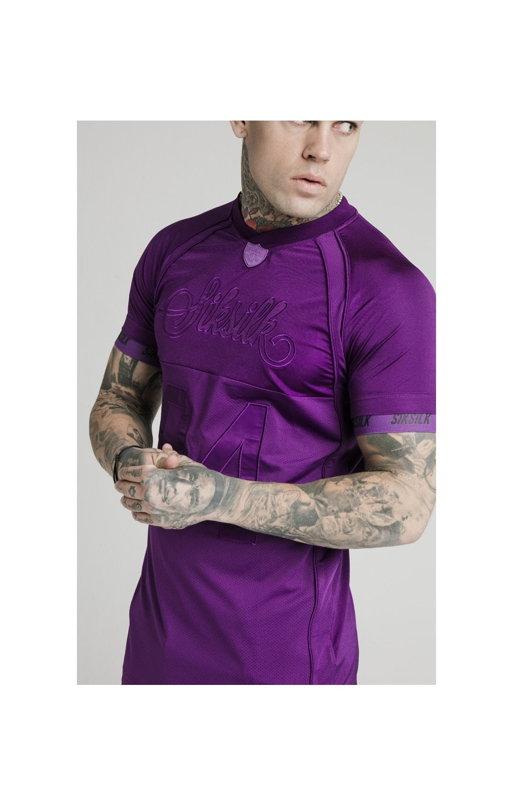 Load image into Gallery viewer, SikSilk Stretch Sports Tee - Purple (1)