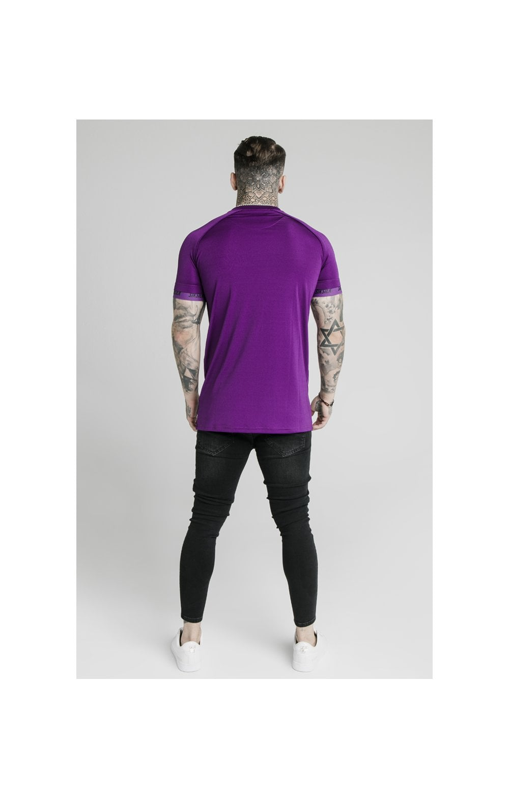 Load image into Gallery viewer, SikSilk Stretch Sports Tee - Purple (5)