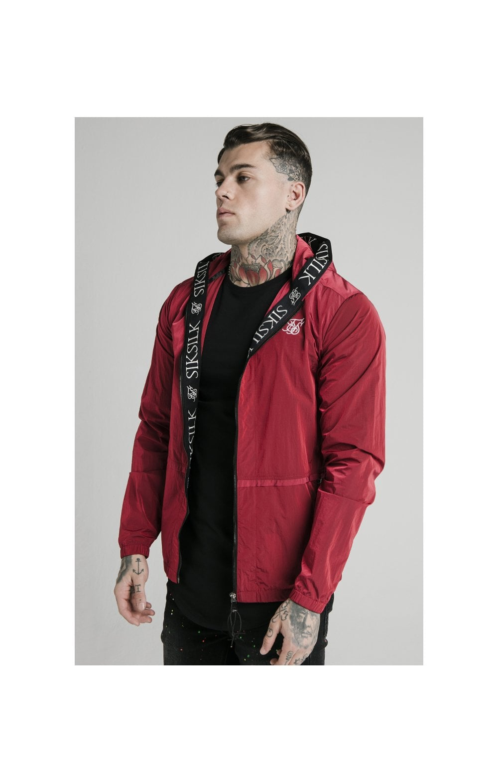 Load image into Gallery viewer, SikSilk Zip Through Windbreaker Jacket - Red