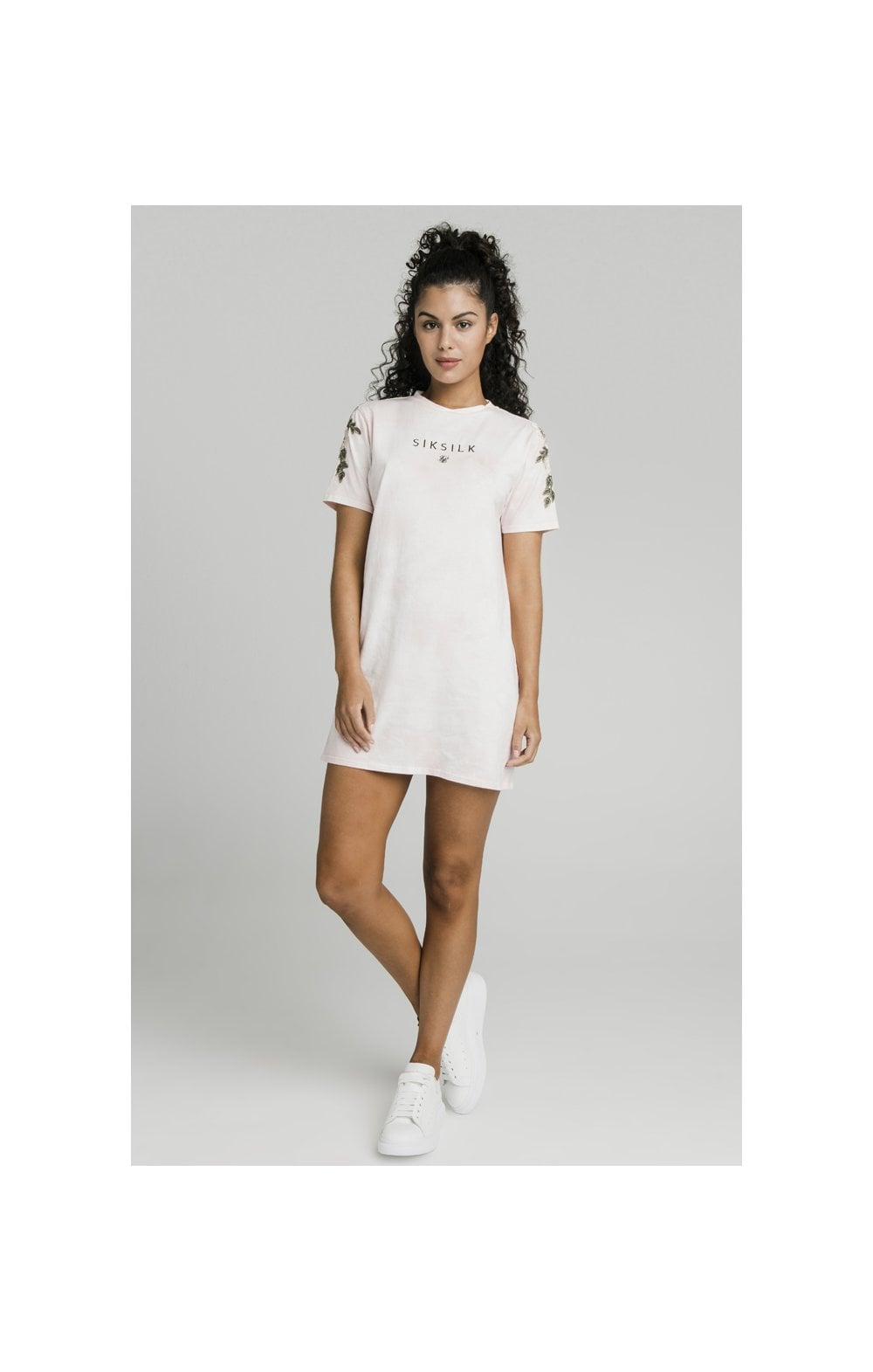 SikSilk Tye-Dye T-Shirt Dress - Pink (3)