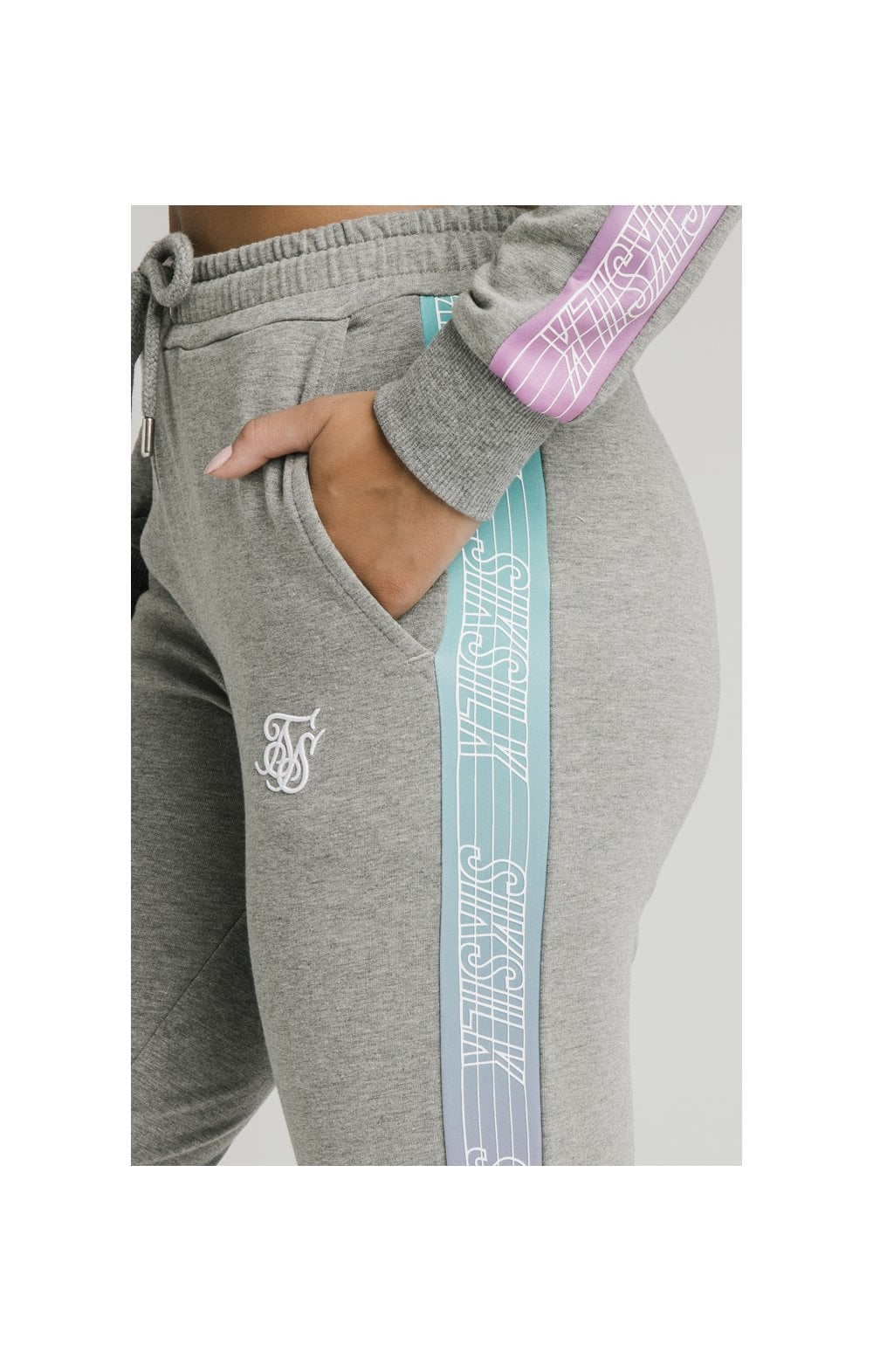 Load image into Gallery viewer, SikSilk Fade Runner Track Pants ��� Grey Marl (2)