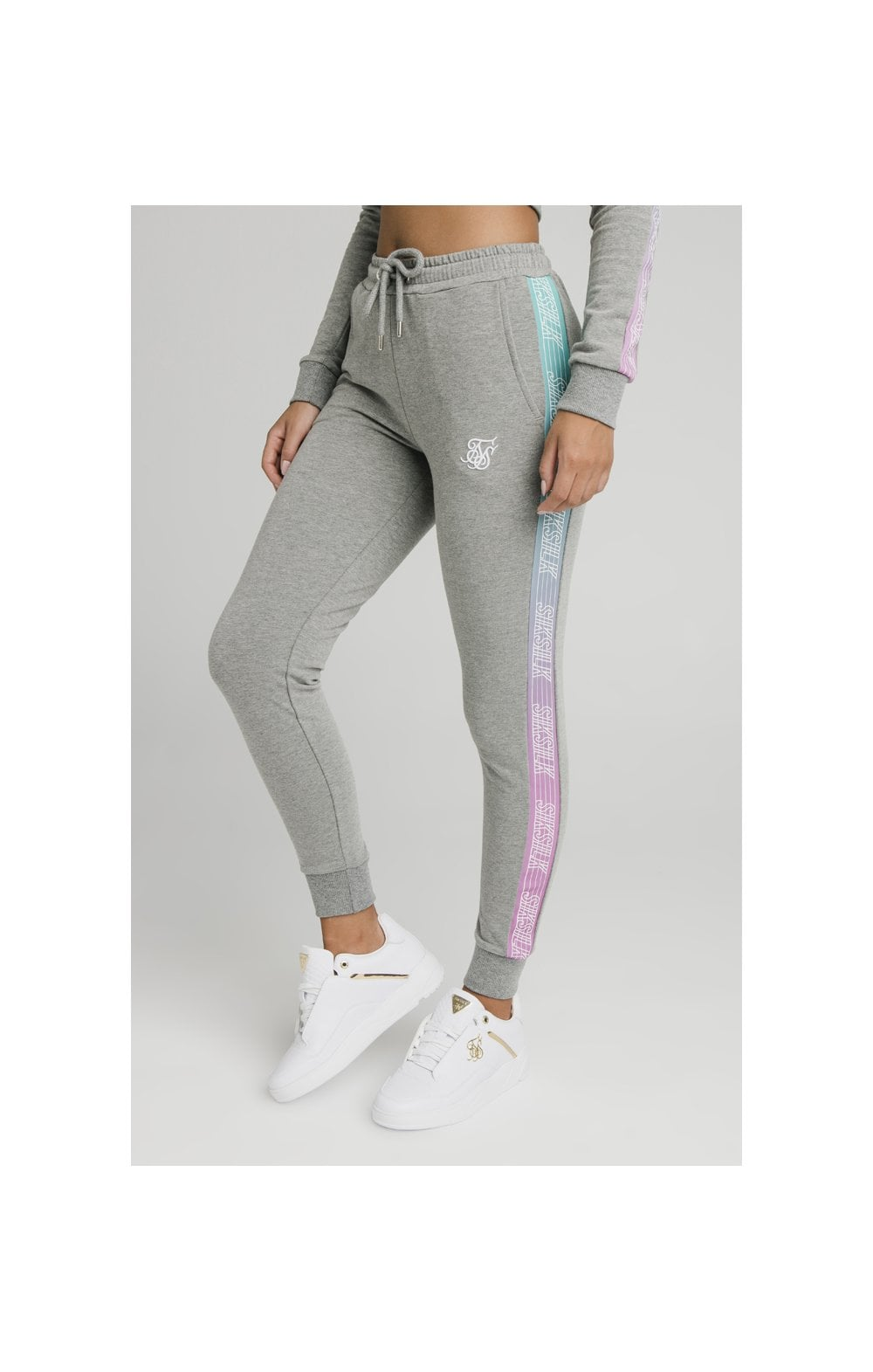 Load image into Gallery viewer, SikSilk Fade Runner Track Pants ��� Grey Marl (5)