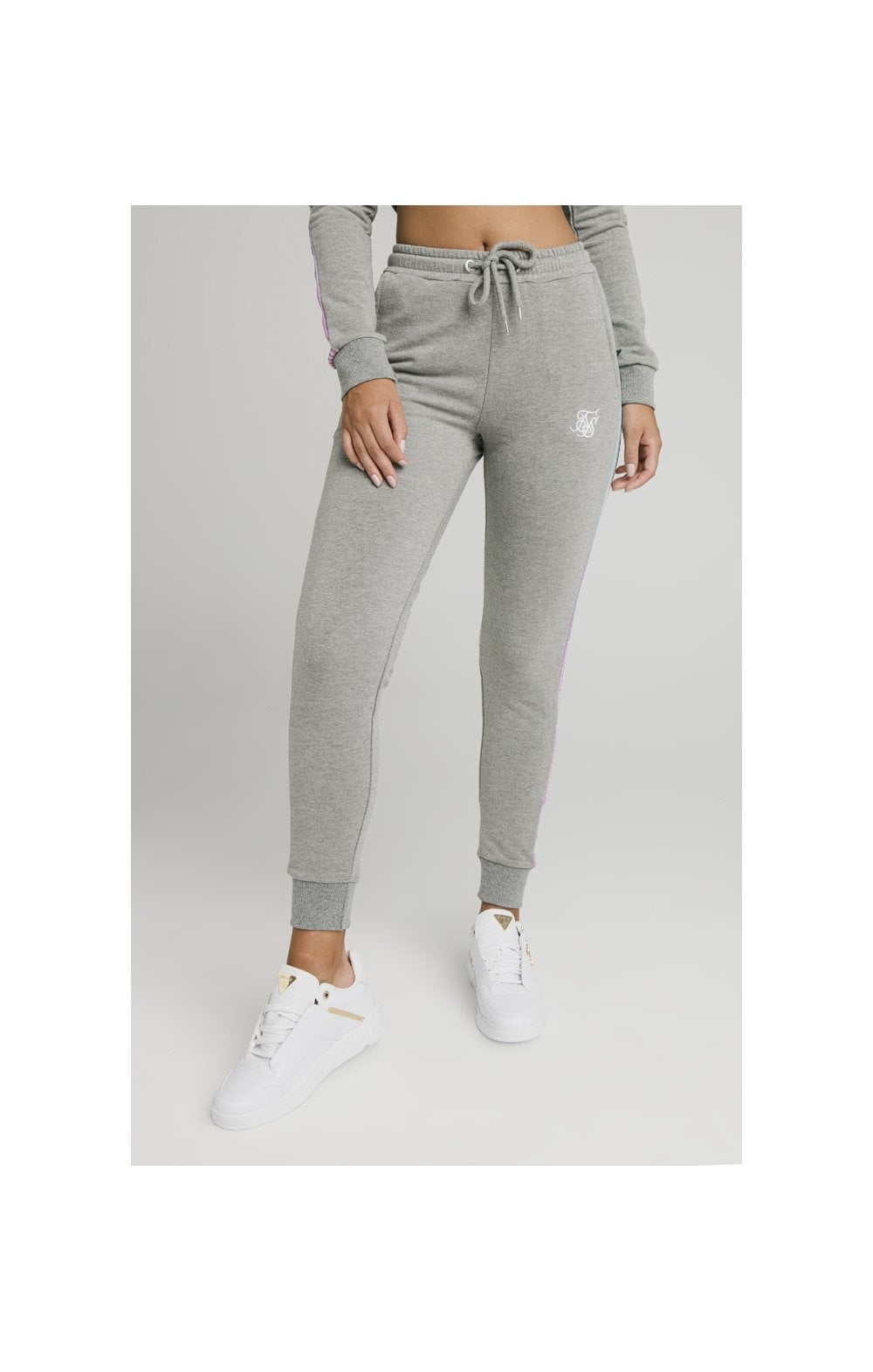 Load image into Gallery viewer, SikSilk Fade Runner Track Pants ��� Grey Marl (6)