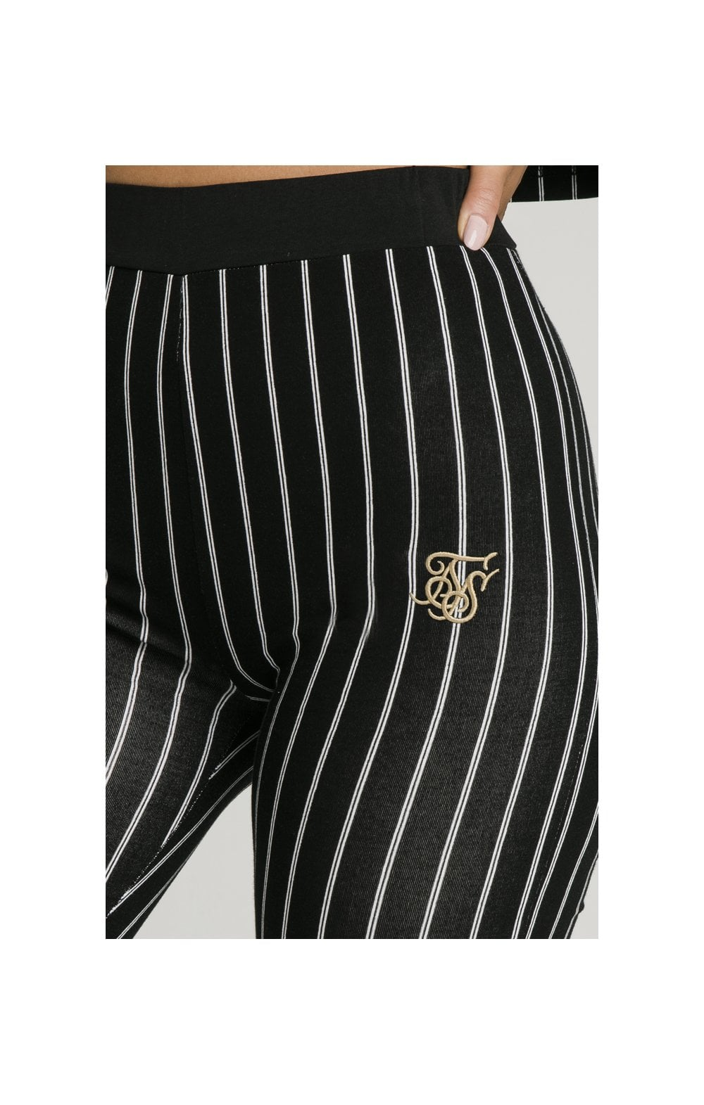 Load image into Gallery viewer, SikSilk Baseball Stripe Cycle Shorts - Black (1)