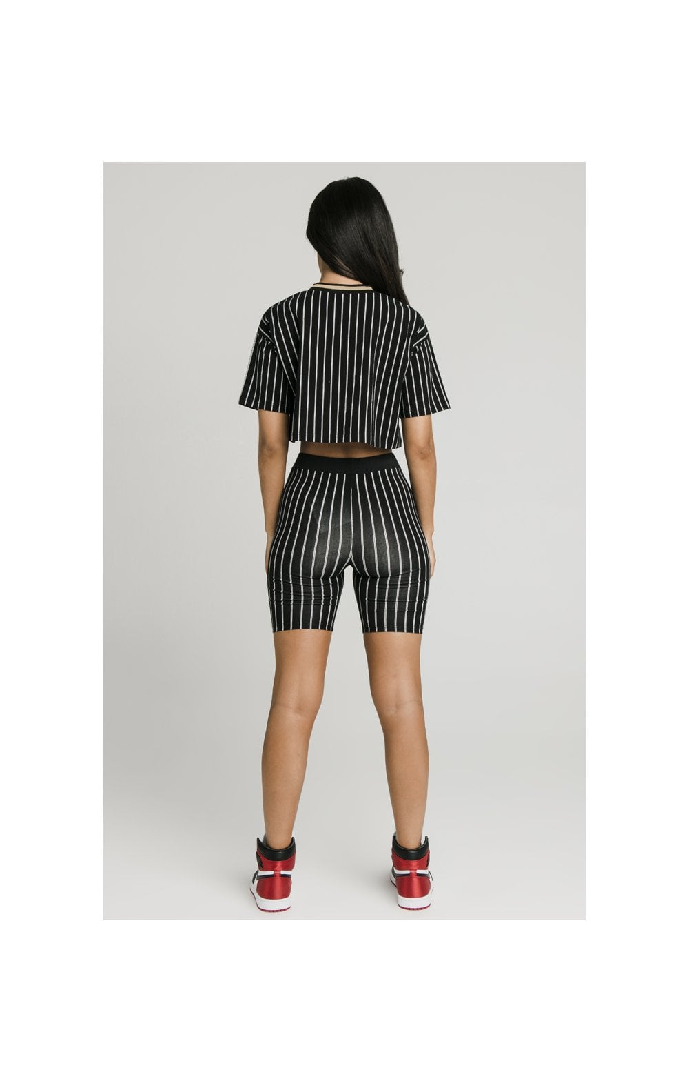 Load image into Gallery viewer, SikSilk Baseball Stripe Cycle Shorts - Black (8)