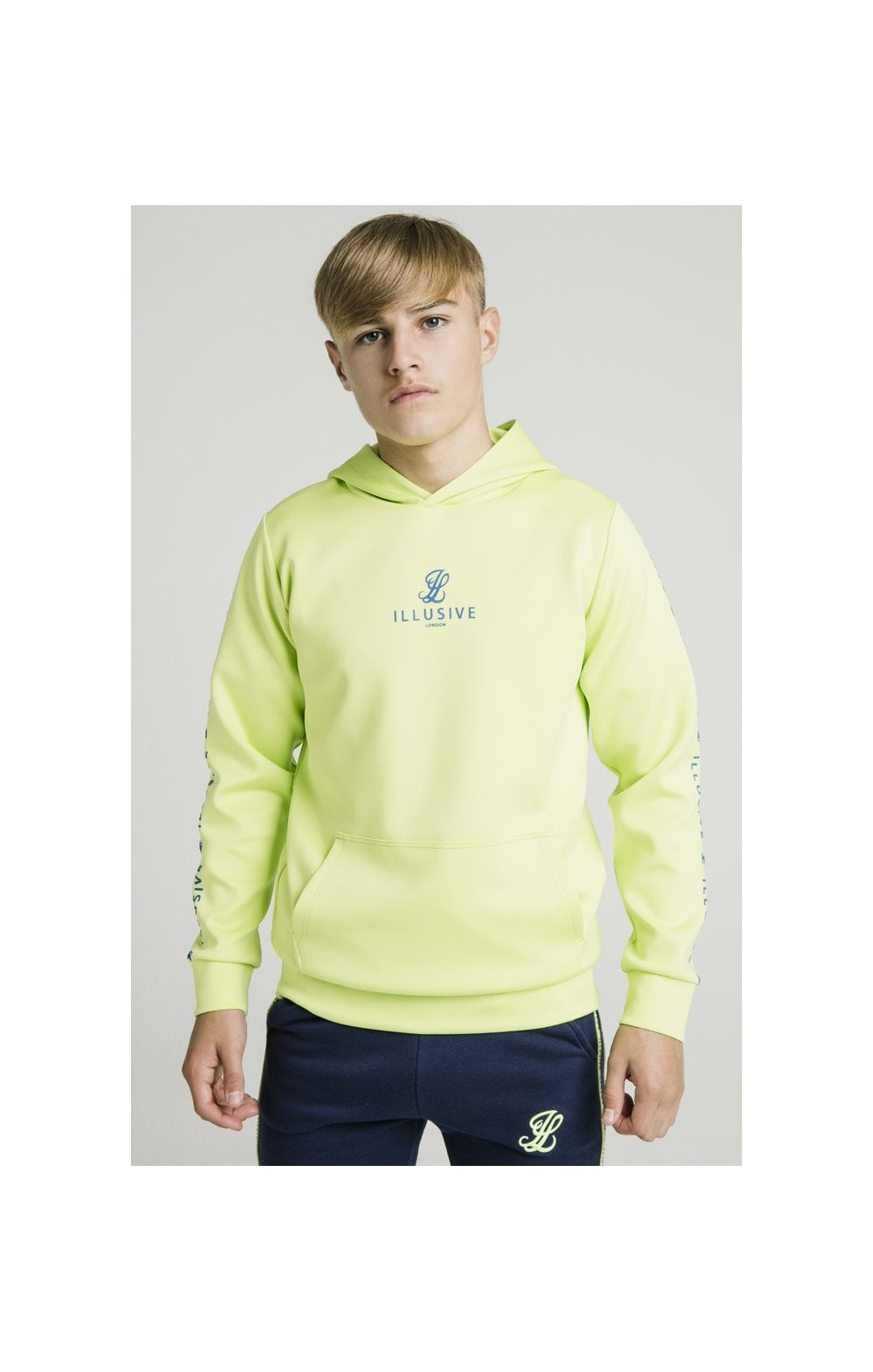Illusive London Logo Hoodie - Lime
