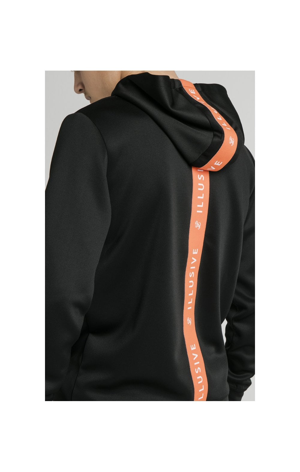 Illusive London Back Tape Zip Through Hoodie - Black (1)