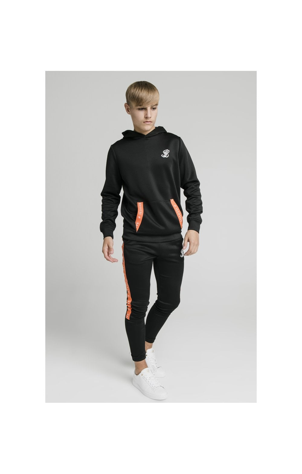 Illusive London Back Tape Zip Through Hoodie - Black (3)