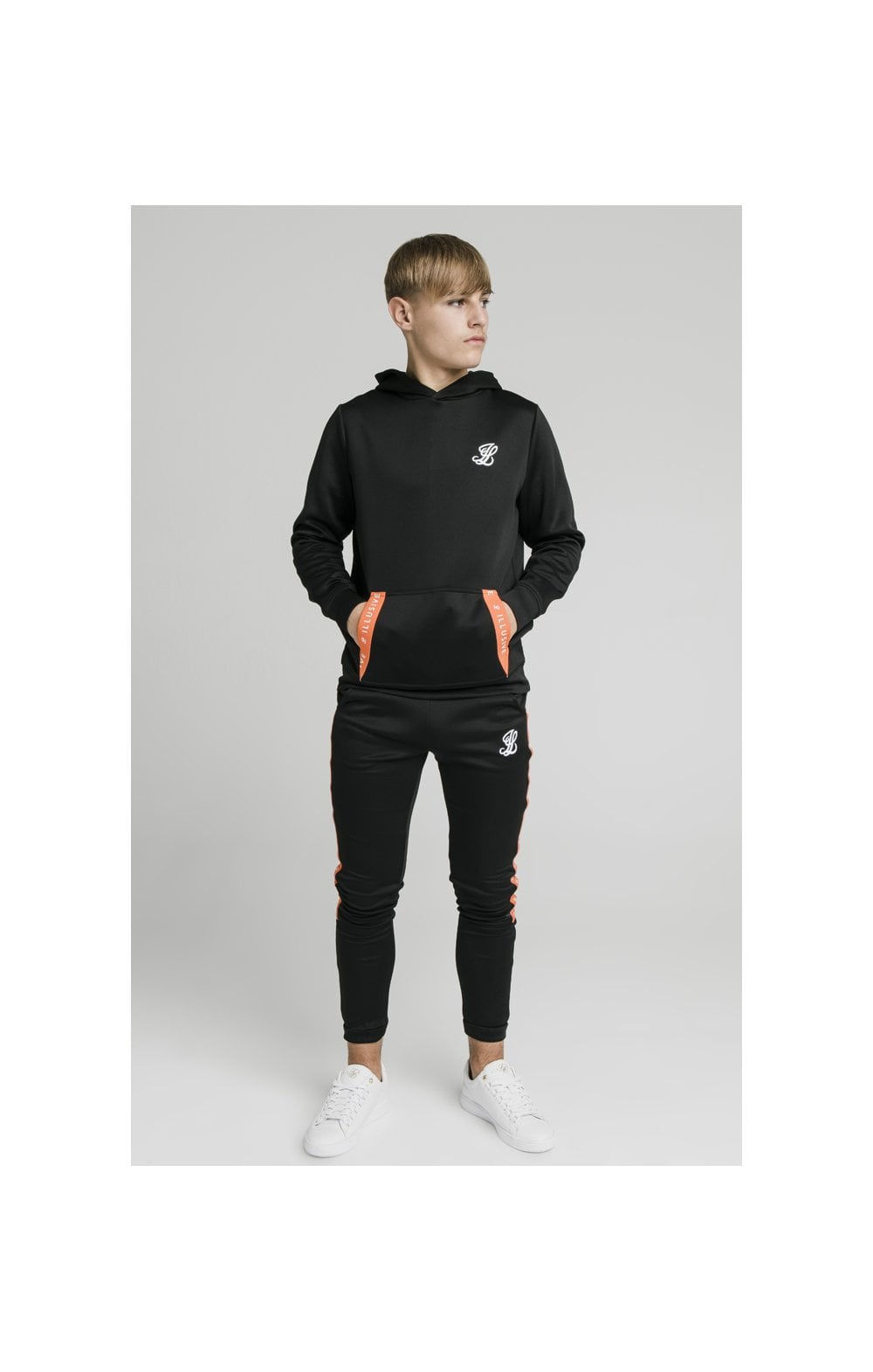 Illusive London Back Tape Zip Through Hoodie - Black (5)