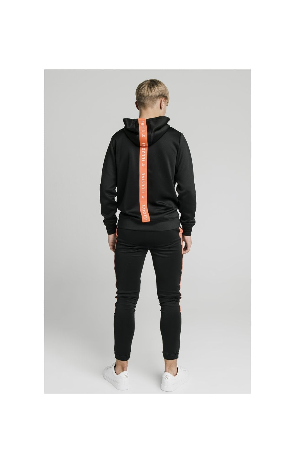 Illusive London Back Tape Zip Through Hoodie - Black (6)