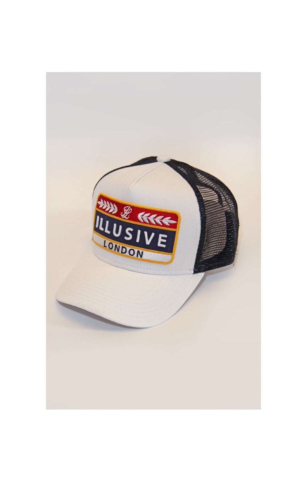Load image into Gallery viewer, Illusive London Patch Trucker - White