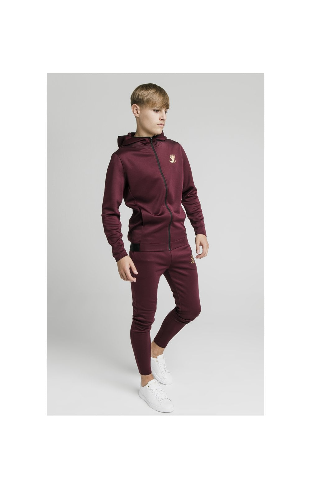 Illusive London Agility Zip Through Hoodie - Burgundy (5)
