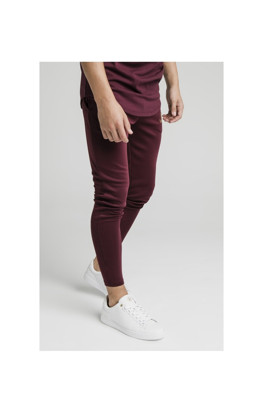 Illusive London Agility Track Pants - Burgundy (1)