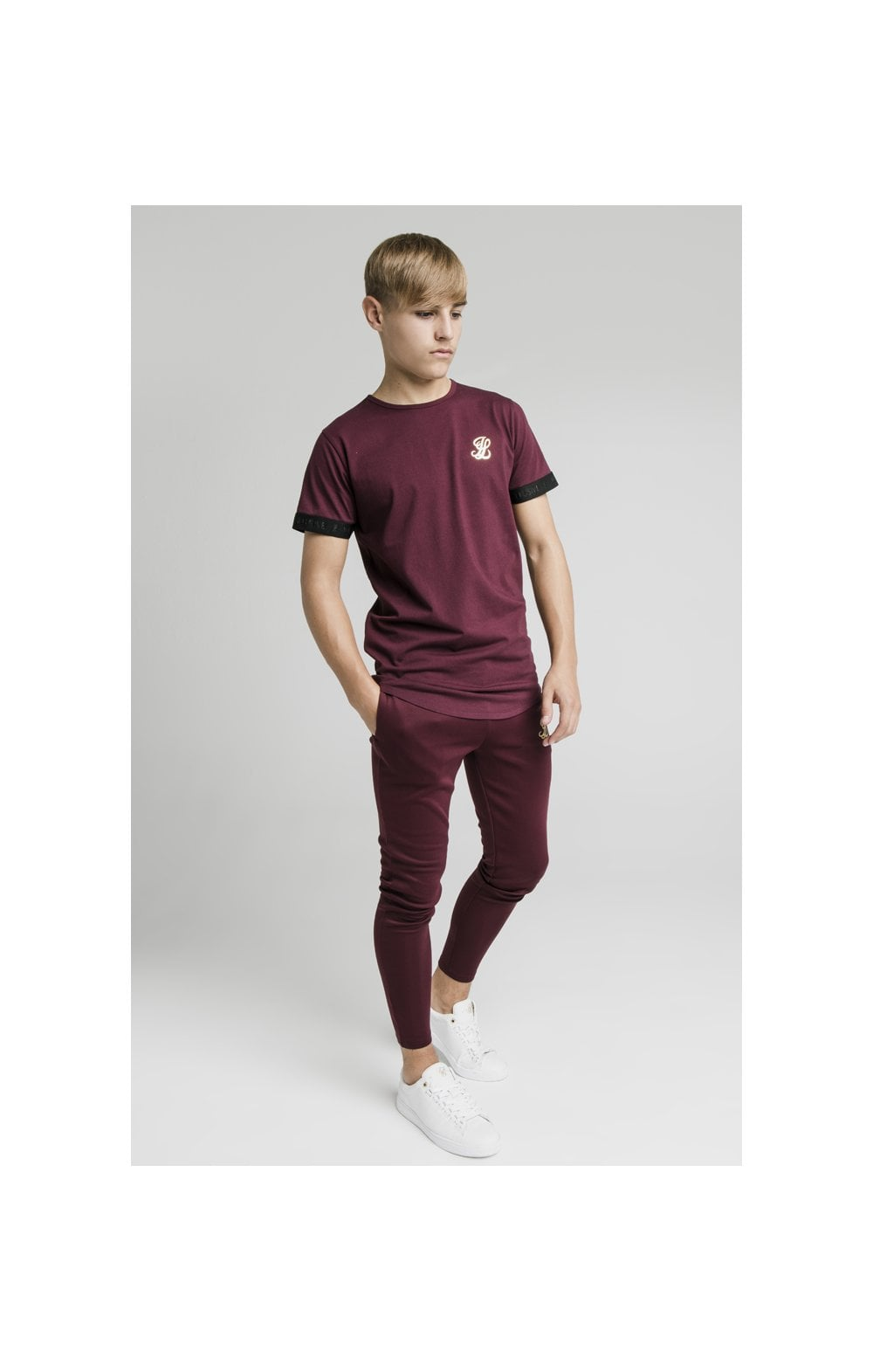 Illusive London Agility Track Pants - Burgundy (5)