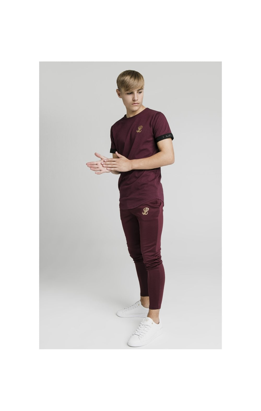 Illusive London Agility Track Pants - Burgundy (6)