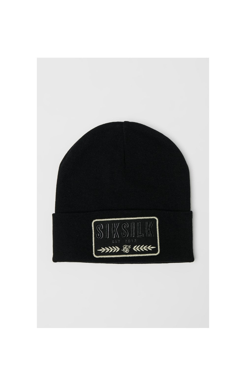 Load image into Gallery viewer, SikSilk Patch Beanie - Black