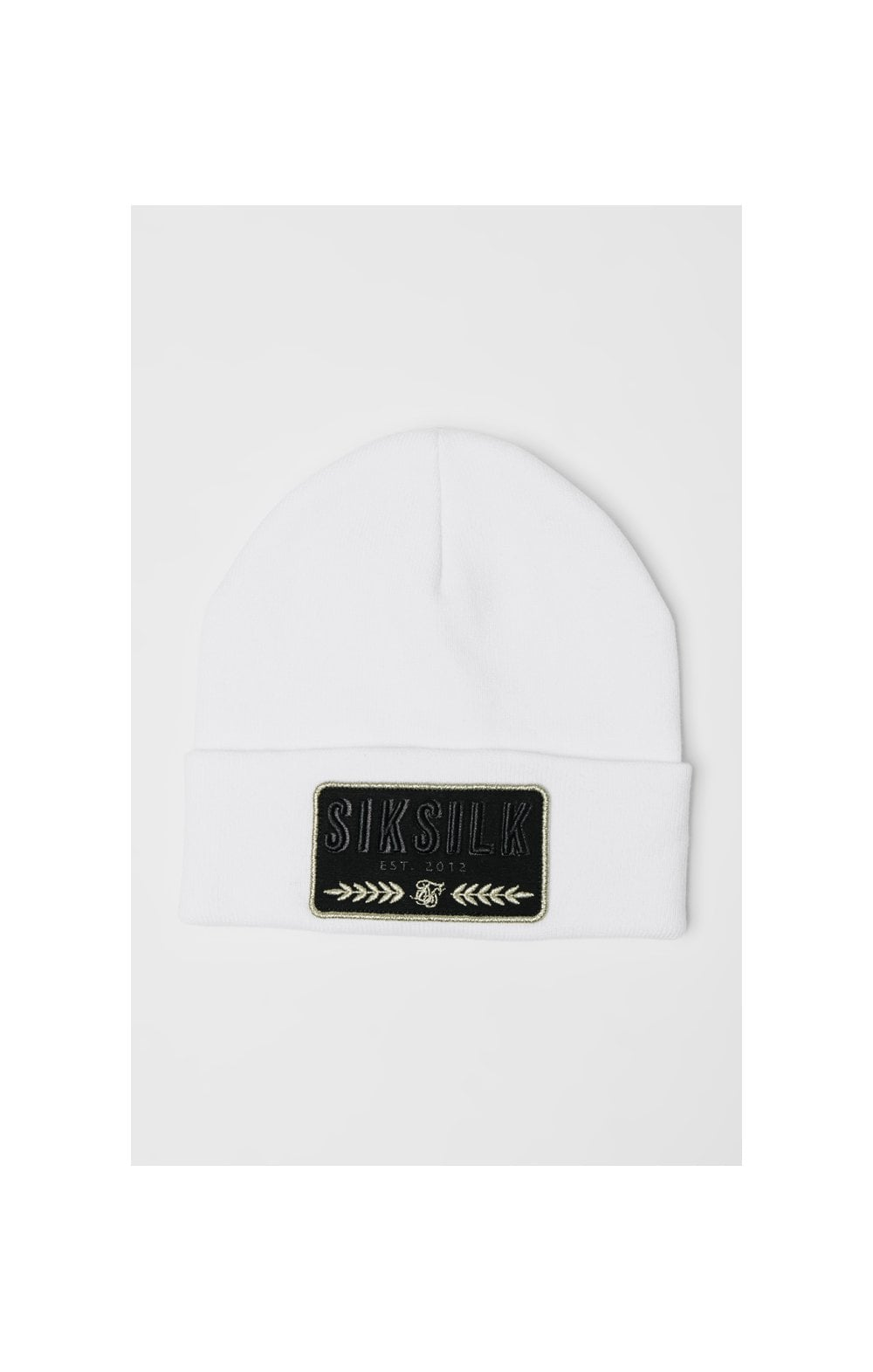 SikSilk Patch Beanie - White
